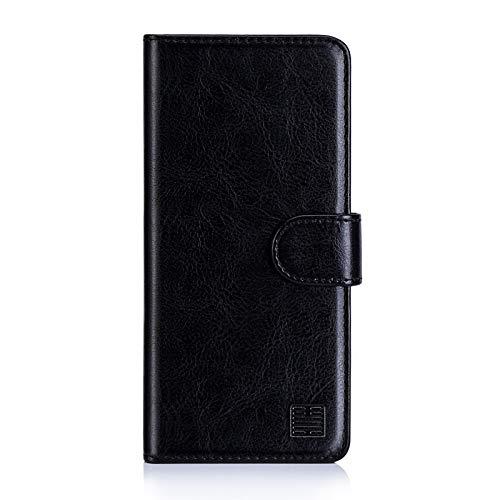 32nd PU Leder Mappen Hülle Flip Case Cover für Nokia 2.1 (2018), Ledertasche hüllen mit Magnetverschluss & Kartensteckplatz - Schwarz