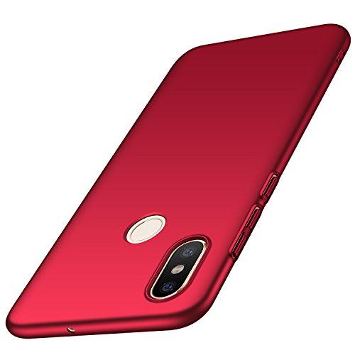 Anccer Funda Xiaomi Mi 8 [Serie Colorida] [Ultra-Delgado] [Ligera] Anti-rasguños Estuche para Carcasa Xiaomi Mi 8 (Rojo Liso)