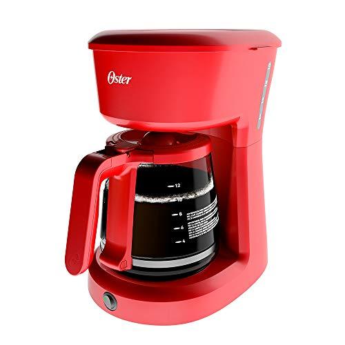 Cafetera de 12 tazas Oster roja sistema de switch BVSTDCS12R013