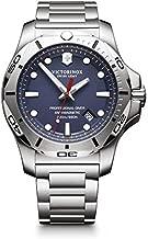 Victorinox Swiss Army Men's I.N.O.X. Swiss-Quartz Watch with Stainless-Steel Strap, Silver, 22 (Model: 241782)