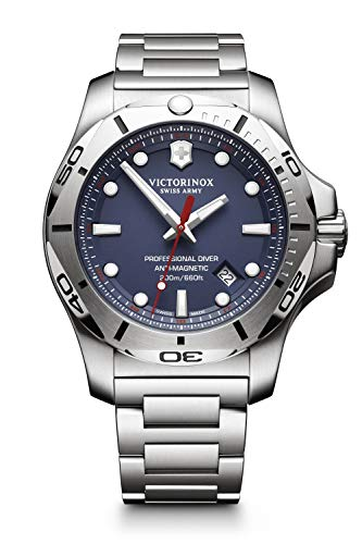 Victorinox Swiss Army Men's I.N.O.X. Swiss-Quartz Watch with Stainless-Steel Strap, Silver, 22 (Model: 241782)