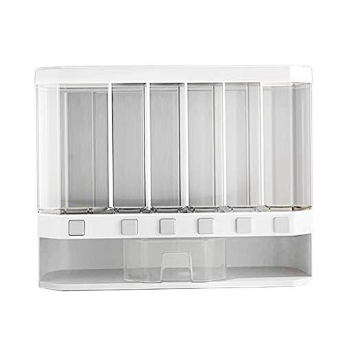 MERIGLARE Dispensador de Cocina de Dispensador de Almacenamiento de Cereal de Caja de Grano Transparente