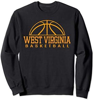 West Virginia Basketball Player W Va Team Mountaineer State Sweatshirt product image