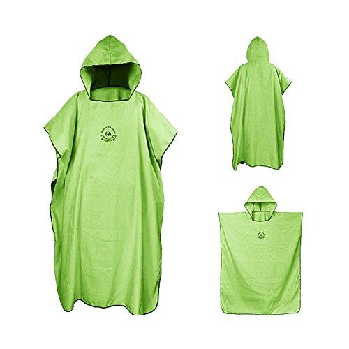 Bata de microfibra ele Eleoption con capucha, compacta y ligera, ideal como toalla de cambio para la playa, vacaciones, viajes, surf, talla única