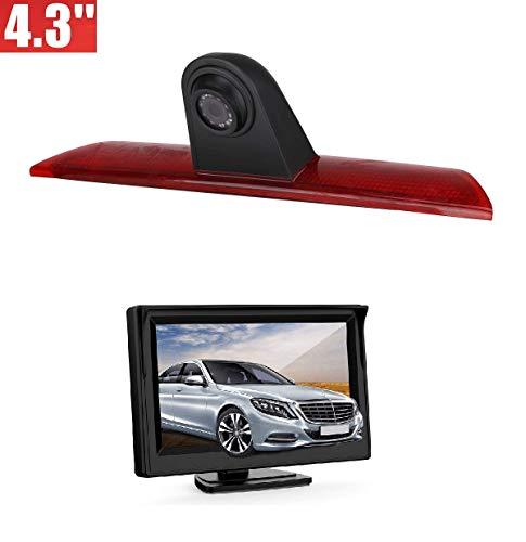 "Dachkante Einparkhilfe Rückfahrkamera integriert in 3. Bremsleuchte Kamera für Ford Transit F150/F250/F350 (2014-2019) + 4,3\"" Zoll DVD Monitor TFT Bildschirm Rückfahrkamera LKW KFZ LCD Display"