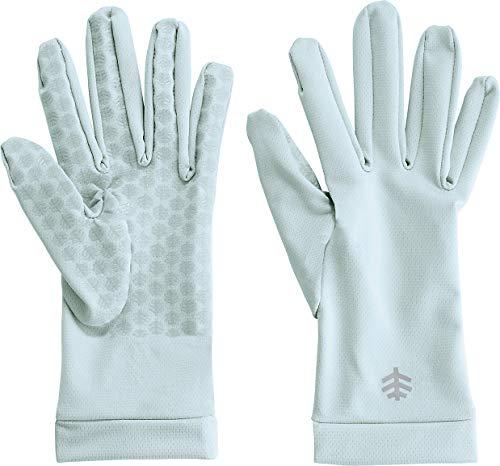 Coolibar UPF 50+ Unisex Sawyer UV Sun Gloves - Sun Protective (Small- Light Blue)