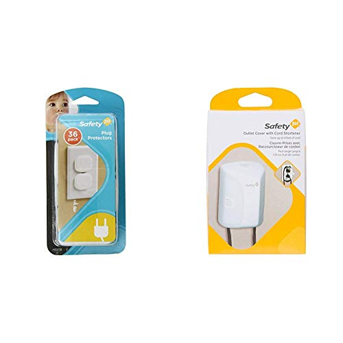 Safety 1st Plug Protectors, 36 Count with Safety 1st Outlet Cover with Cord Shortener for Baby Proofing