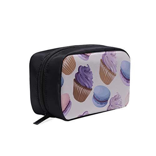 Trousse de toilette à accrocher pour enfants Couleur Fille française Coeur Dessert Macaron Trousse de maquillage Clair Pendaison Poche à cosmétiques Organisateur Voyage Sacs de cosmétiques pour femme