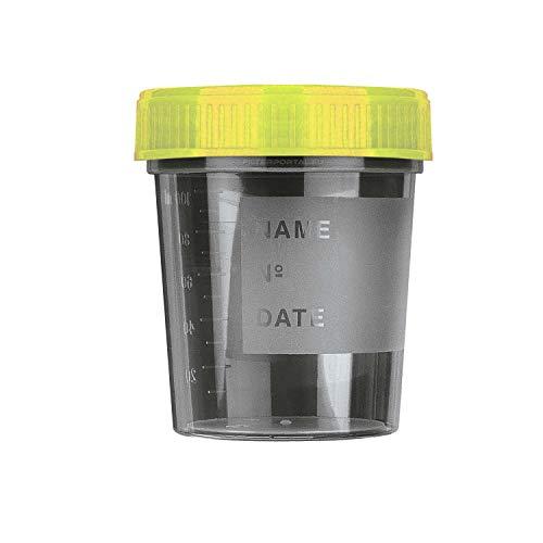 20 x Urinbecher   120ml mit Schraubdeckel   Urinprobenbecher Urin Probe Becher Mehrzweck Kunststoffbecher (GELB)