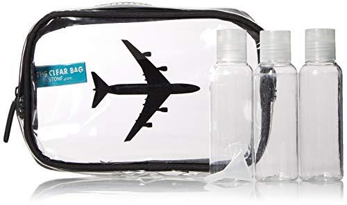 Trousse à Maquillage Transparente pour Homme et Femme - Approuvé par la TSA avec Petites Bouteilles, Claire (Transparent) - CCB-01-AIR