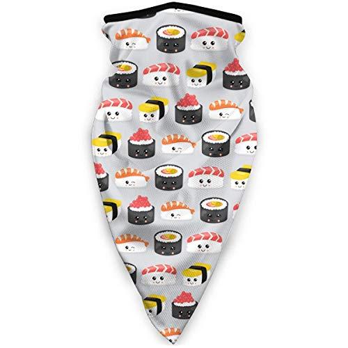 Juli Japanse Beste Sushi eetstokjes Schattige Roller Rijst Windbreak Sjaal Gezicht Masker Wasbaar Stofmasker Balaclava Bandana
