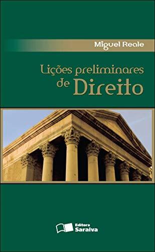 Lições preliminares de direito - 27ª edição de 2013