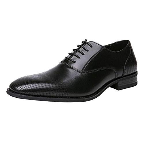 Aiweijia Zapatos de Cuero para Hombres Zapatos de Vestir Clásico Moderno Oxford...