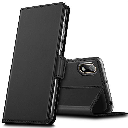 GEEMAI für Huawei Y5 2019 Hülle, für Huawei Y5 Prime 2019 Hülle, handyhüllen Flip Hülle Wallet Stylish mit Standfunktion und Magnetisch PU Tasche Schutzhülle passt für Huawei Y5 2019 Phone, Schwarz
