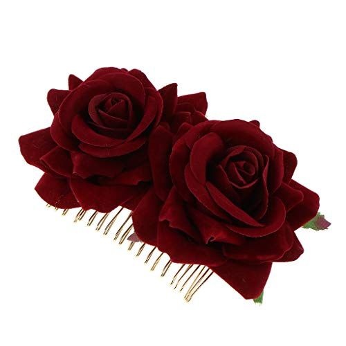 F Fityle Peinetas de Pelo Boda Rosas Flores Clips de Pelo para...
