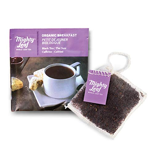 Mighty Leaf Tea Organic Pouches, Black Tea Bags in Individual Foil Packs, Breakfast, 100 Count