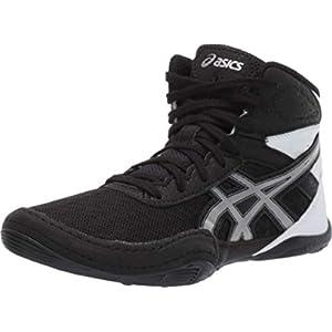 ASICS Kid's Matflex 6 GS Wrestling Shoes, 4M, Black/Silver