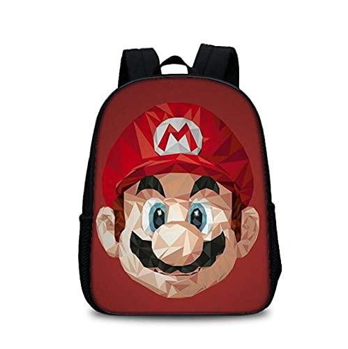 Mario Kids Bag Super Mario Bros. Anime Games Periférico Super Mario Schoolbag Hombre y Mujer Estudiantes al aire libre Bolsa de ordenador
