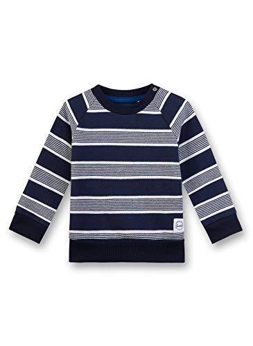 Sanetta Baby-Jungen Sweatshirt, Blau (Nordic Blue 5962), 80 (Herstellergröße: 080)