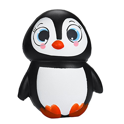 Linmkey Kawaii Squishies Penguin, Slow Rising Squishy Animals Toys Soft and Scented Animals Squishies Stress Relief for Adult Children Gift Party Favor