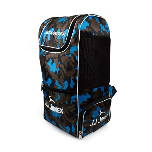 JJ Jonex Cricket Bags Wide Range with Heavy Duty Polyester Material @Hipkoo (Multicolor) (Bouncer (Blue))