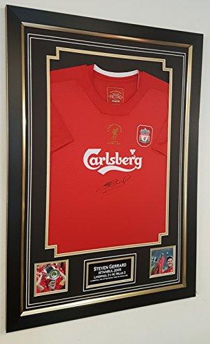 www.signedmemorabiliashop.co.uk Steven Gerrard of Liverpool signiertes Trikot Istanbul