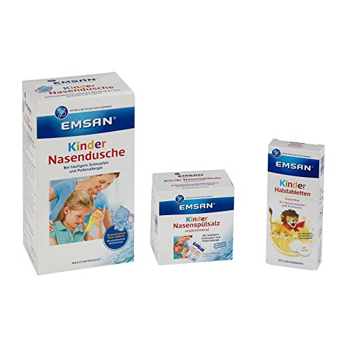 Emsan Set Kinder Nasendusche, Spülsalz, Halstabletten gratis