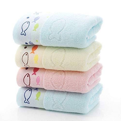 4 stuks Gaoyang handdoek effen stof, puur katoen, zachte gezichtshanddoek (lengte * breedte): 34 * 74