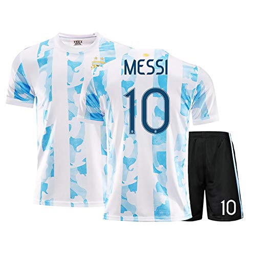 LISI 20-21 Cancha de Casa Argentina Uniforme de Fútbol Replica Messi Camiseta de Futbol para Adulto y Niños Deportes Aire Libre,A,28