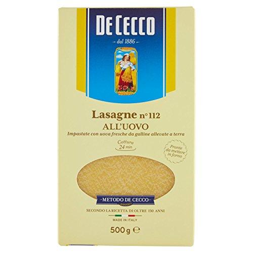 De Cecco Lasagna N°112 Timballo all'Uovo, 500g