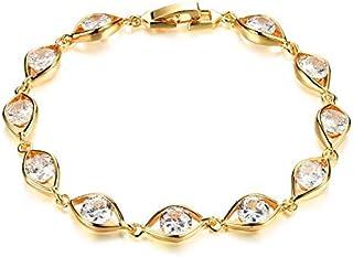 OPK Europe Style auger zircon 18 k gold plated eyes pattern bracelet for lady