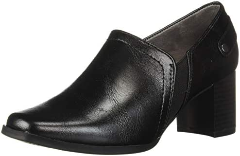 LifeStride Women s Shannon Mid Heel Shooties Loafer Black 7 5 M US product image