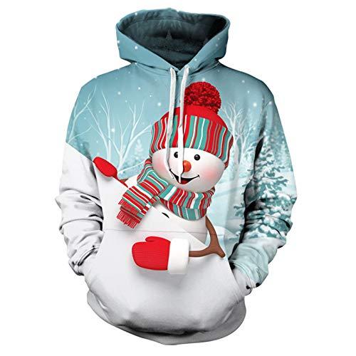 Mr.BaoLong&Miss.GO Herbst Und Winter Herrenpullover Weihnachten Kapuzenpullover Tasche Pullover Pullover Tide Kapuzen Herrenpullover
