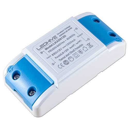 LEDHive - Controlador regulable (12 W, 240 V, 12 V, con bloques de terminales, cero interferencia con Dab y WiFi
