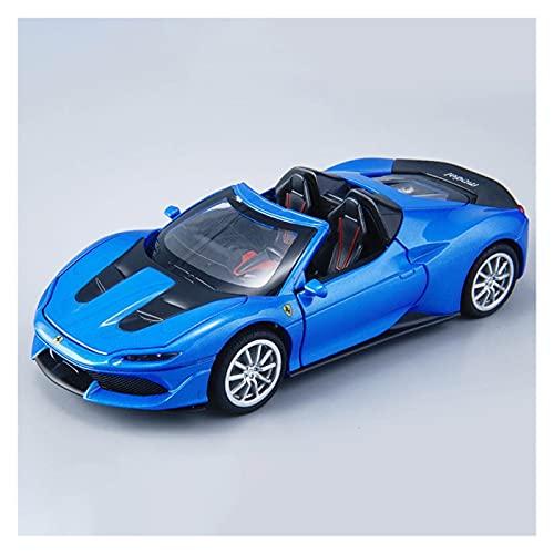 Kits Juguetes Modelos Coches De Moda para Lamborghini J50 1:32 Simulación De Aleación De Fundición A Presión Sonido Y Luz Modelo De Coche Deportivo Expresión De Amor (Color : Azul)