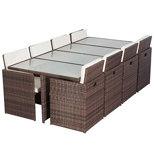 Muebles de Jardín Perú Essgruppe marrón 8 personas aluminio Muebles de Jardín en forma de cubo en marrón 29 piezas para terraza jardín Balcón: Amazon.es: Jardín