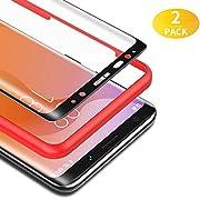BANNIO für Panzerglas für Samsung Galaxy S8 Plus,[2 Stück] 3D Panzerglasfolie Schutzfolie für Samsung Galaxy S8 Plus mit Positionierhilfe,9H Härte,Anti Rayures,Blasenfrei,Anti-Kratzen,Schwarz