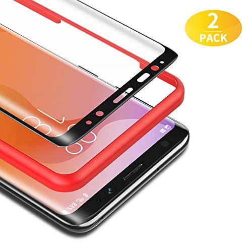 BANNIO Protector de Pantalla Samsung Galaxy S8 Plus,[2 Unidades] 3D Cristal Templado para Samsung Galaxy S8 Plus con Kit de Instalación,9H Dureza,Sin Burbujas