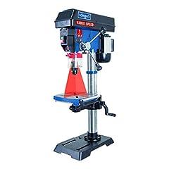 Scheppach Profi kolonn uppborrning maskin DP18Vario (550 W, gjutjärn konstruktion, oändligt variabel hastighet reglering, borr chuck 16mm, laser, LED, inkl. bord breddning)