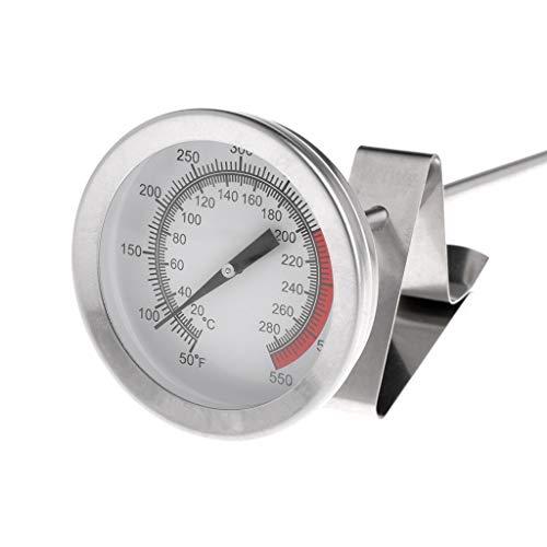 Folewr Freidora de aceite de freidora de pollo frito - alas termómetro para parrilla de barbacoa de 40 cm de largo