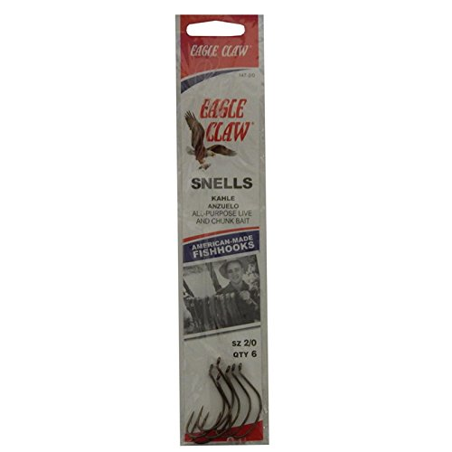 Eagle Claw 147-2/0 Kahle Snelled Hooks, Multi, 1/0 (147H-2/0)