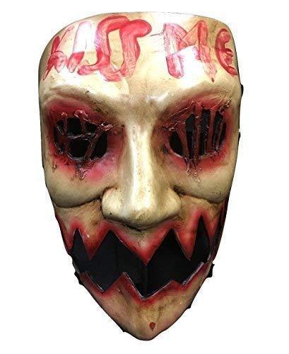La Purga KISS ME ELECCIONES YEAR DE LUJO fibra vidrio Halloween Cosplay Máscara Anonymous
