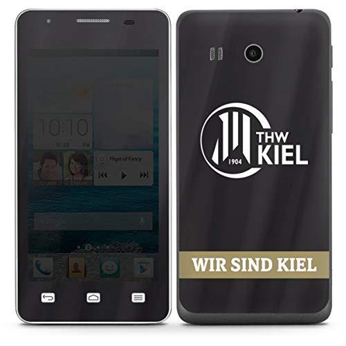 DeinDesign Folie kompatibel mit Huawei Ascend G525 Aufkleber Skin aus Vinyl-Folie Fanartikel THW Kiel Handball