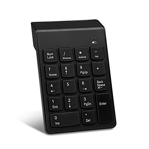 Teclado numérico inalámbrico USB numérico Pad 2.4GHz 18 llave mini