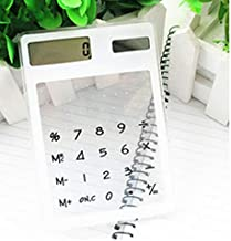 $20 » YYANG 8 Digit Touch Screen Ultra Slim Transparent Solar CalculatorStationery Clear Scientific Calculator Office New in Now (Color : White)