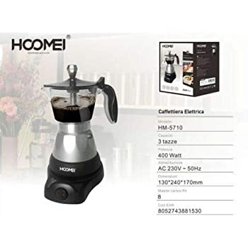 ALL SHOP – Cafetera Moka eléctrica 400 W para 3 Tazas, máquina ...