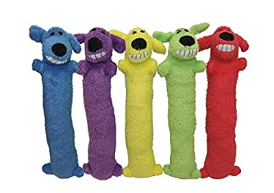 Plush Toys Happy Pet Loofa Dog, 12-inch (Assorted Color, 1 Piece)