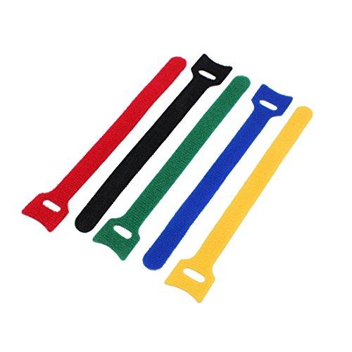 Aexit 5 Stücke 15 cm Länge Nylon Abnehmbare Verschluss Schleife Krawattenriemen Gürtel Kabel Veranstalter (e84538fc56e4334655ced7a0b4ff0401)