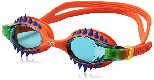 TYR Kids Swimple Spikes Googles, Spikes/Blue/Orange, One Size
