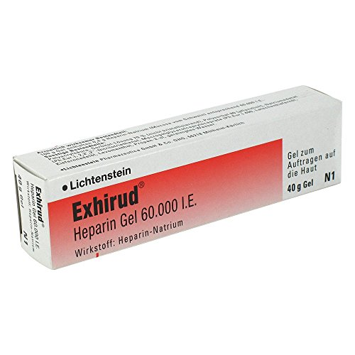 Exhirud Heparin Gel 60.000 I.E 40g Gel